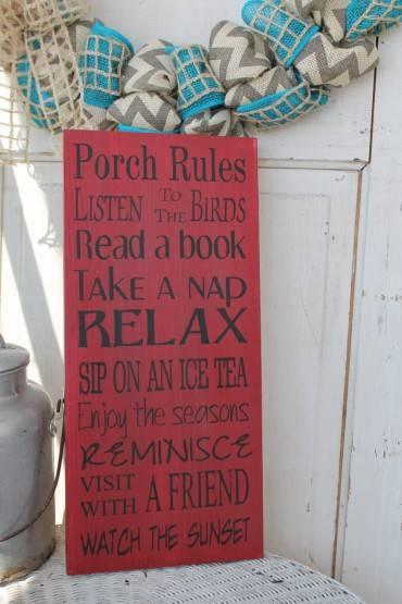 Zasady siedzenia na porczu