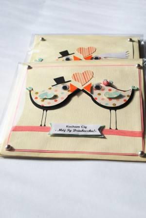 kartka z dziubkiem ręcznie robiona