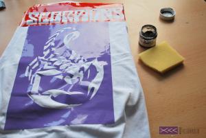 recznie malowane koszulki szablon