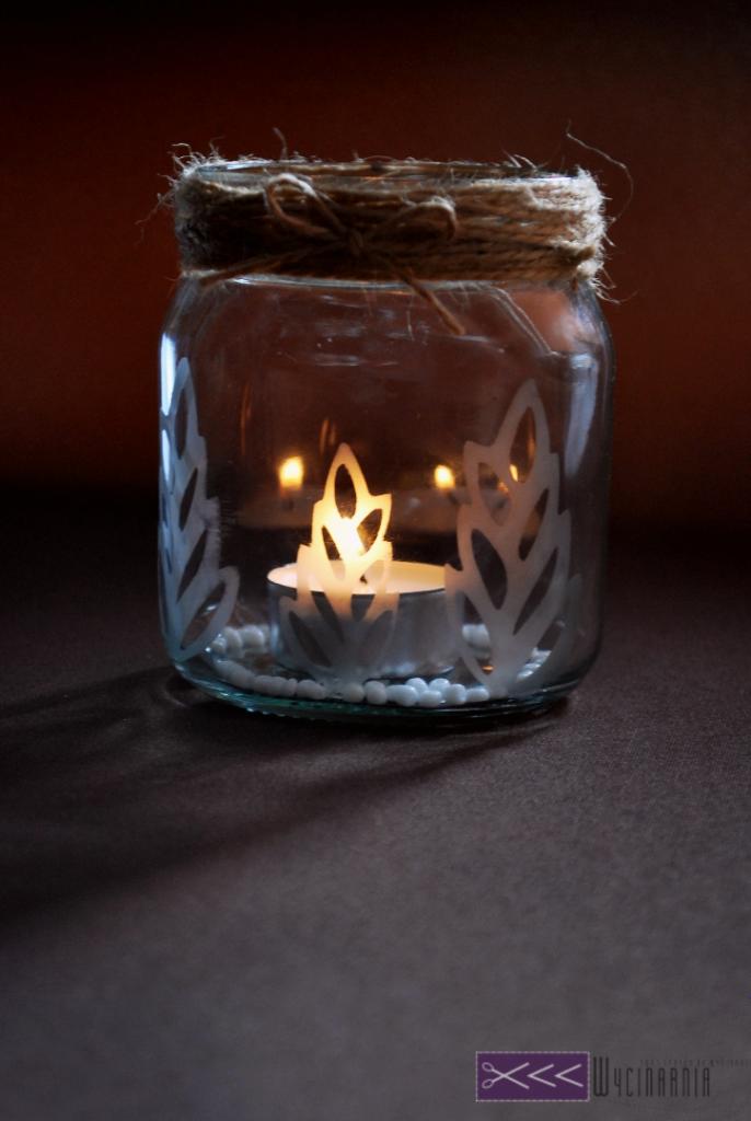 Świecznik – czyli drugie życie słoika z Nutelli