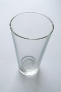 matowienie szkła szklanka