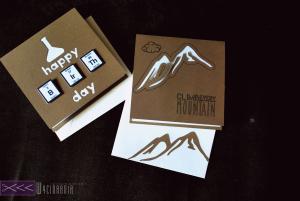 Kartka dla chemika, kartka góry ręcznie robiona