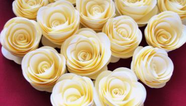 Papierowe róże – czyli winietki w innym stylu
