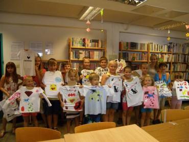 Warsztaty plastyczne dla dzieci, malowanie koszulek - katowice