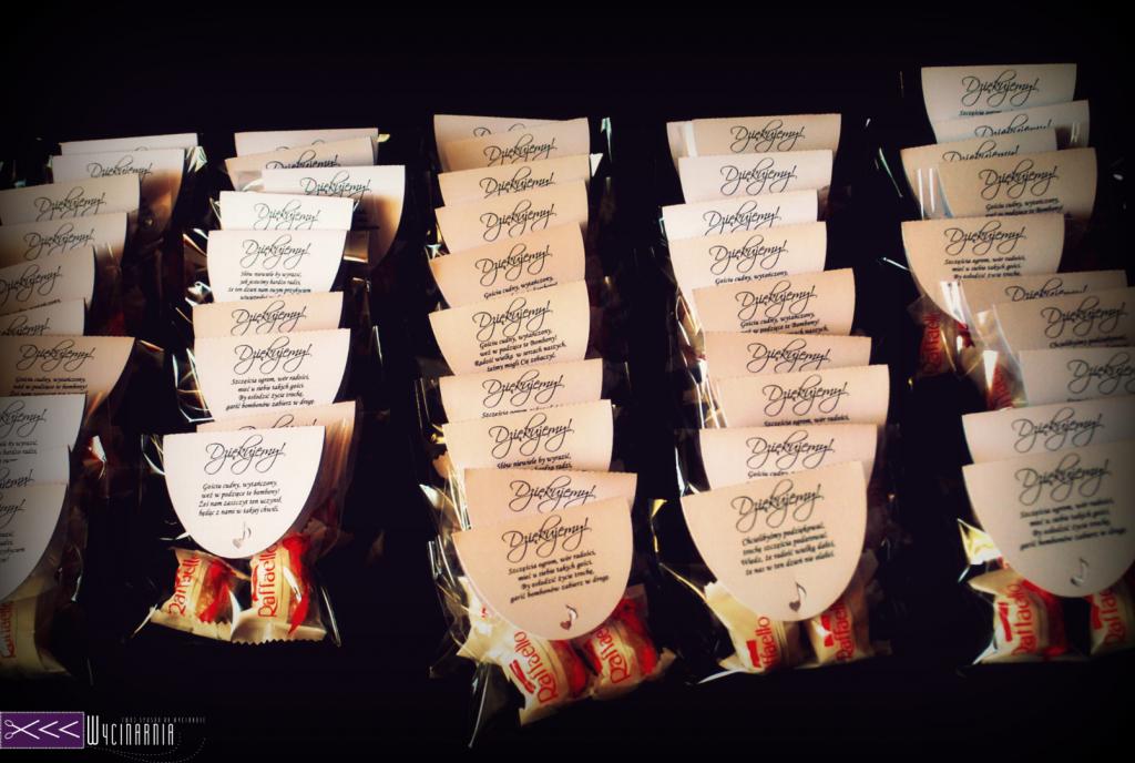 Prezenty dla gości - cukierki, rafaello