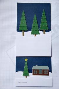 ręcznie robioka kartka świąteczna na ploterze cameo 2