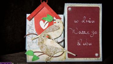Kartka 3d  – czyli weselne gołąbki