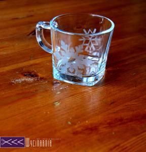 matowienie szkla filizanka
