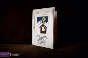 ręcznie robiona kartka świąteczna ploter silhouette