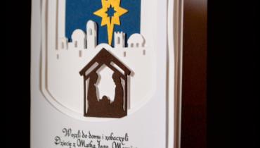 Warstwowe karteczki świąteczne