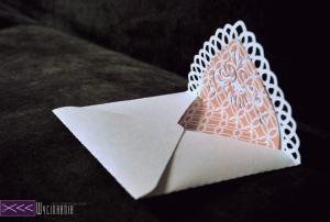 ręcznie robiona kartka walentynkowa