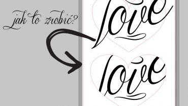 Jak dopasować napis do kształtu