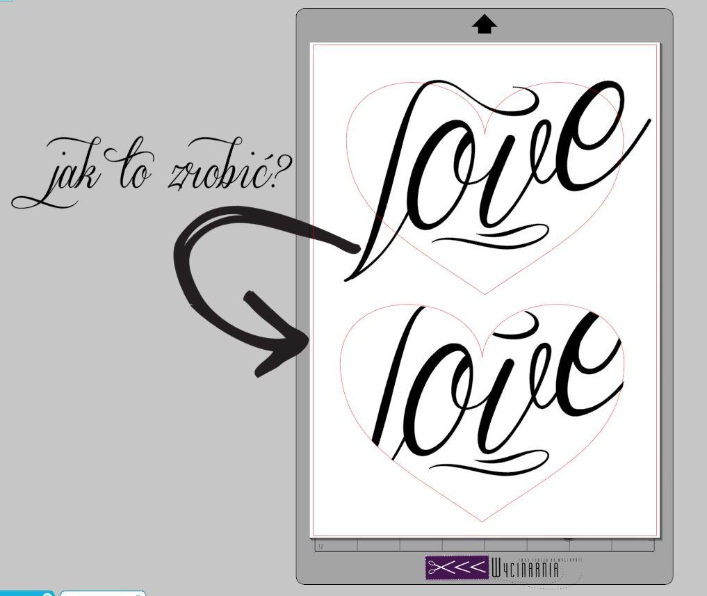 Jak dopasować napis do kształtu?