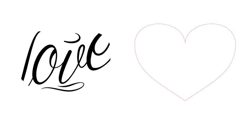 Jak dopasować napis do kształtu serca?