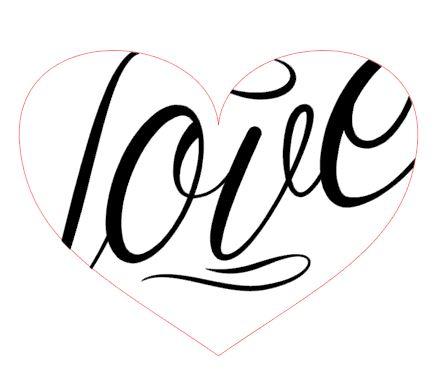 Dopasowanie napisu do kształtu serca