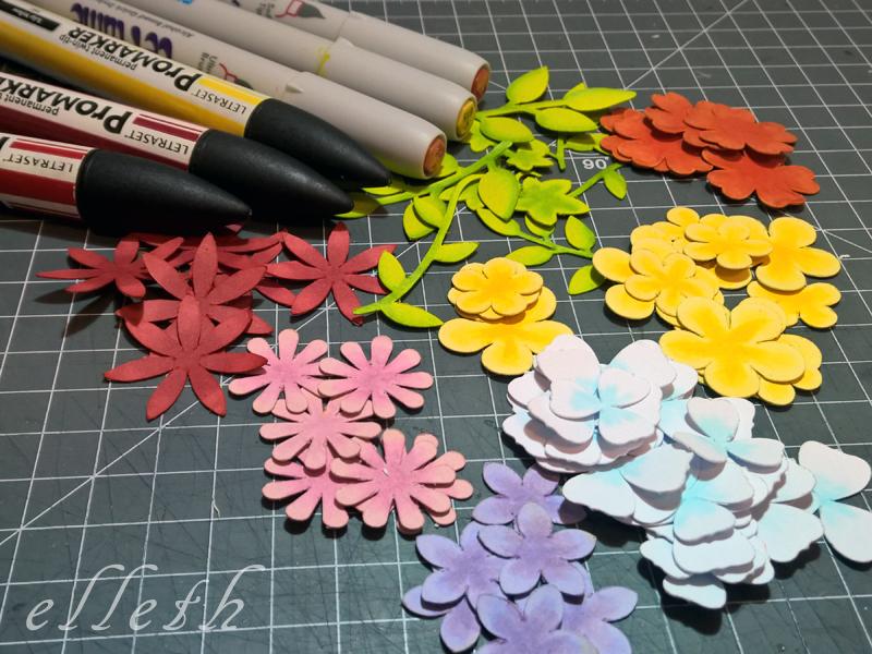 kwiaty ploter silhouette portrait