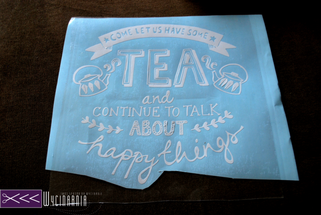 pudełko na herbatę diy ploter silhouette