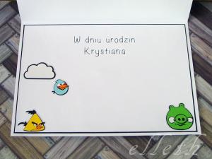 kartka urodzinowa angry birds ploter silhouette cameo2