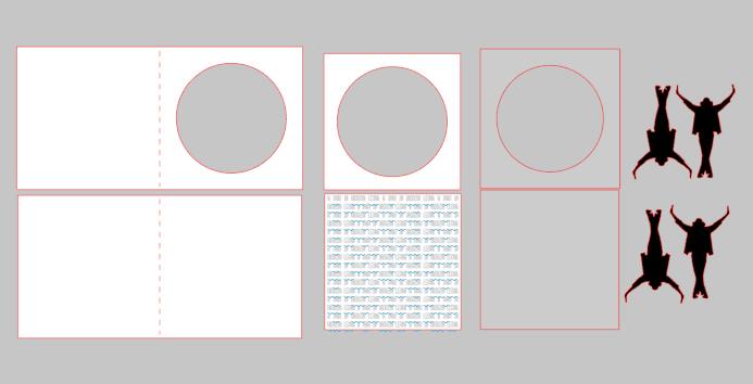 Ruchoma kartka 3d ploter silhouette portrait diy