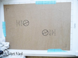 pudełka z własnym logo ploter silhouette diy