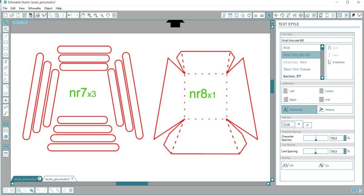 taczka 3d z papieru ploter silhouette