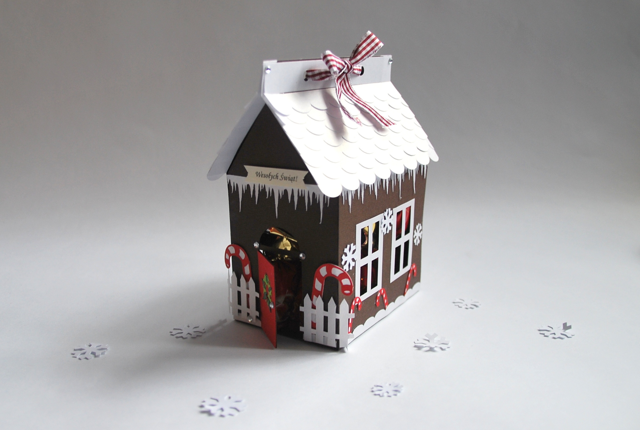 Pudełeczka diy w kształcie domku