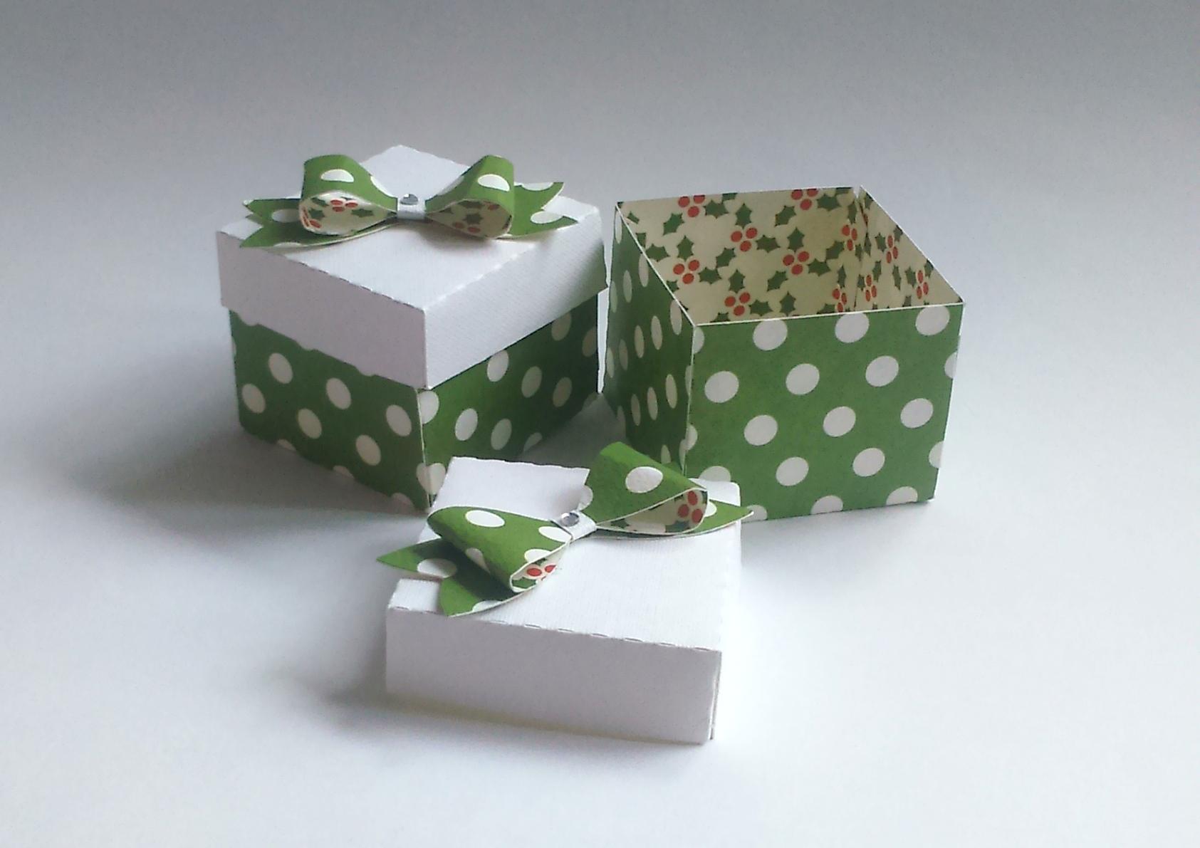 Jak zrobić pudełko na prezent w groszki?