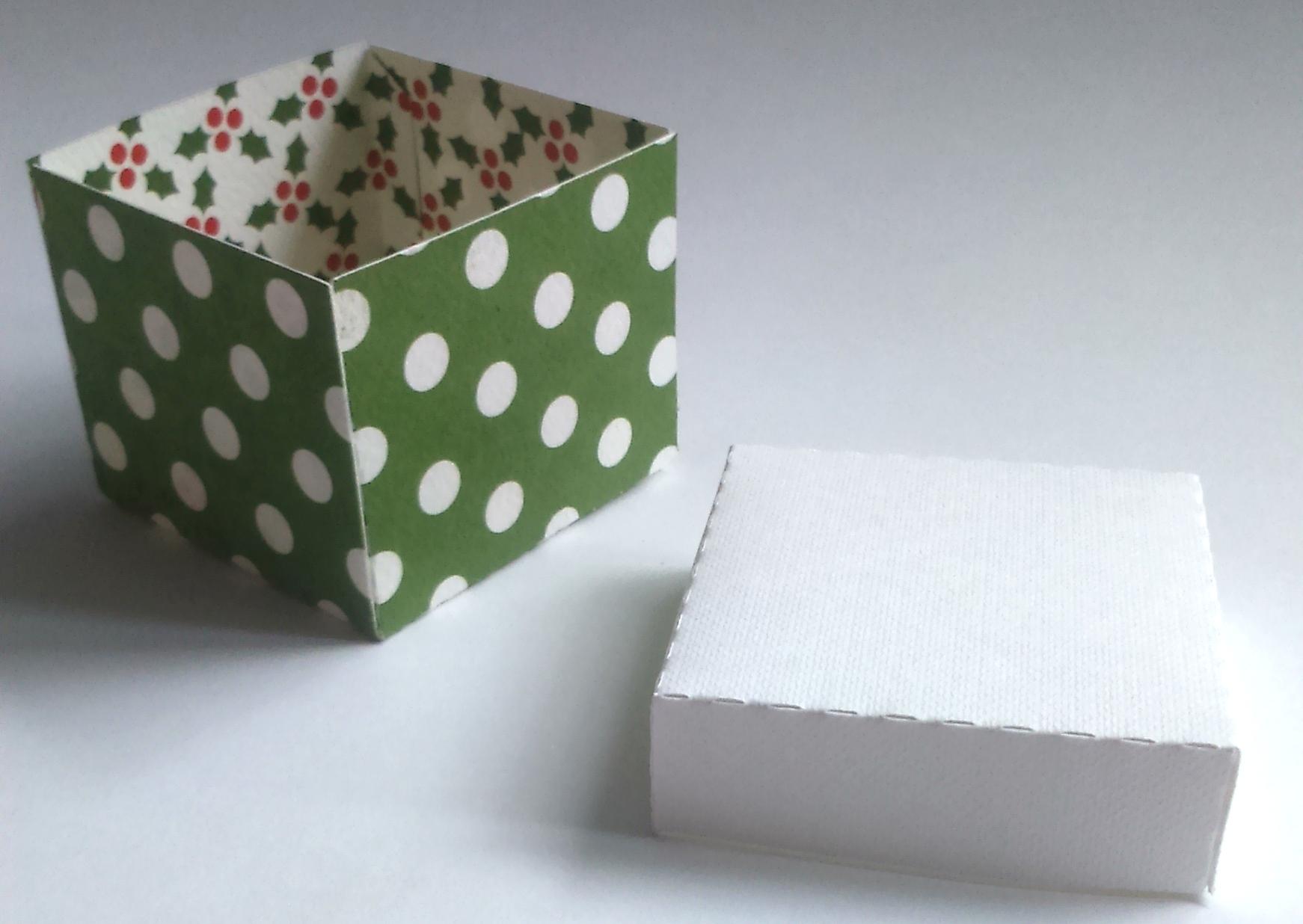 Zielone pudełeczka diy