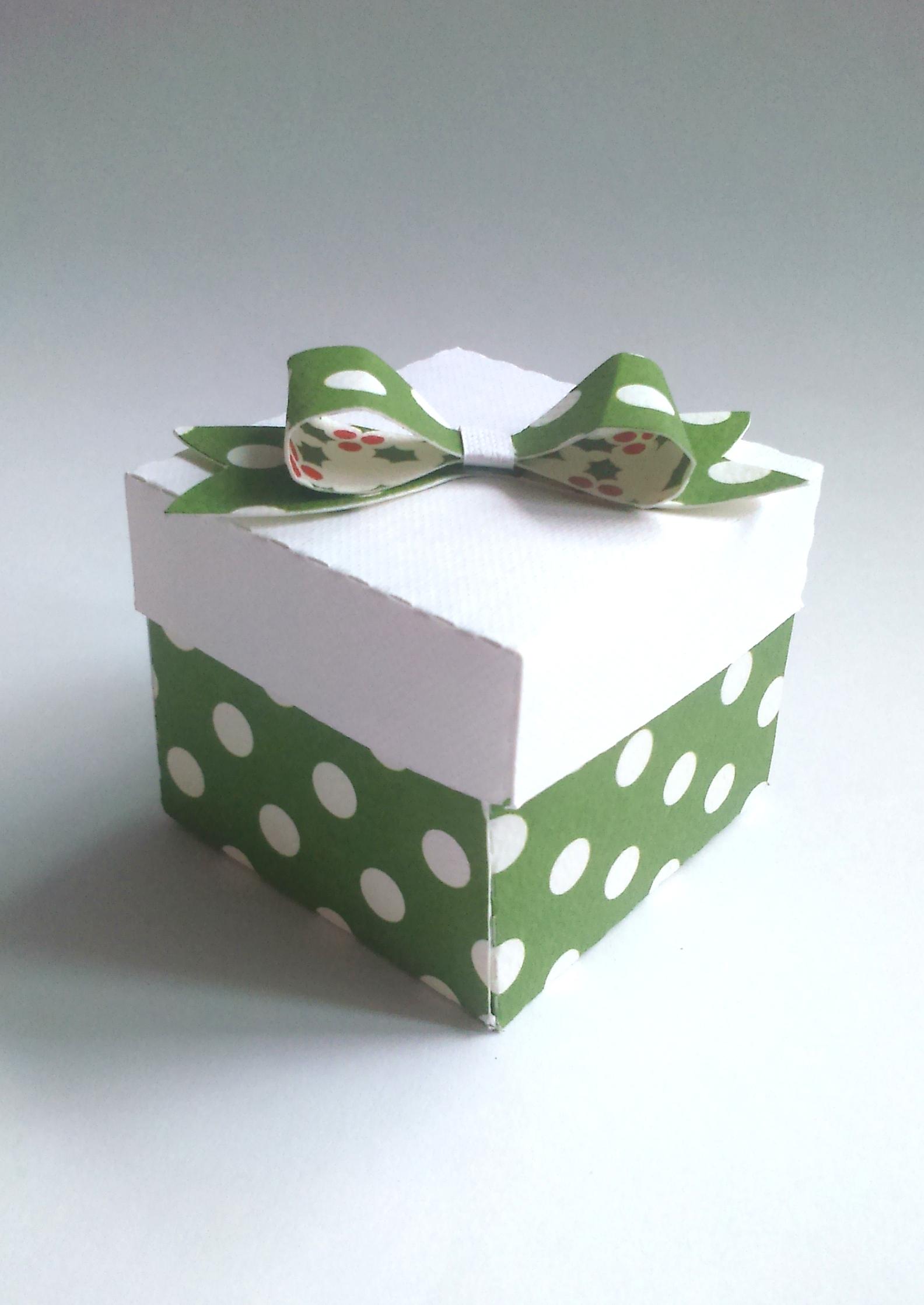 Zielone DIY pudełko
