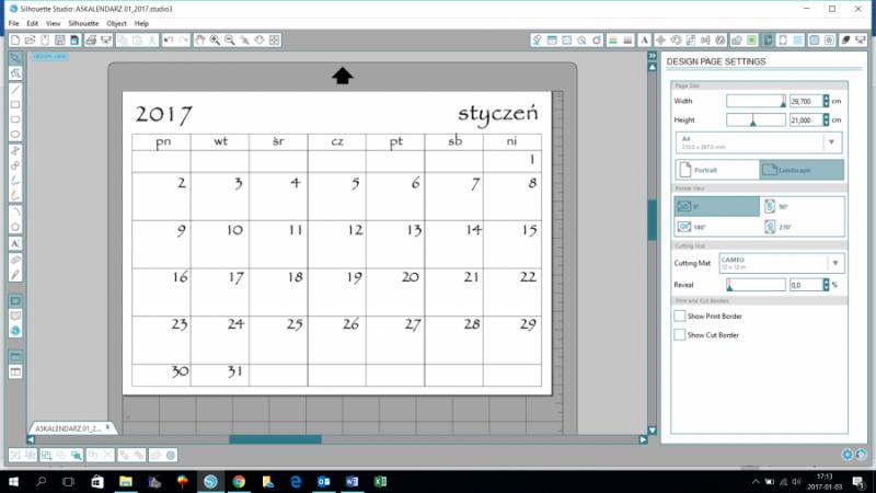 kalendarz do druku 2017
