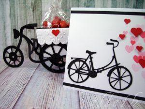 Kartka walentynkowa rower