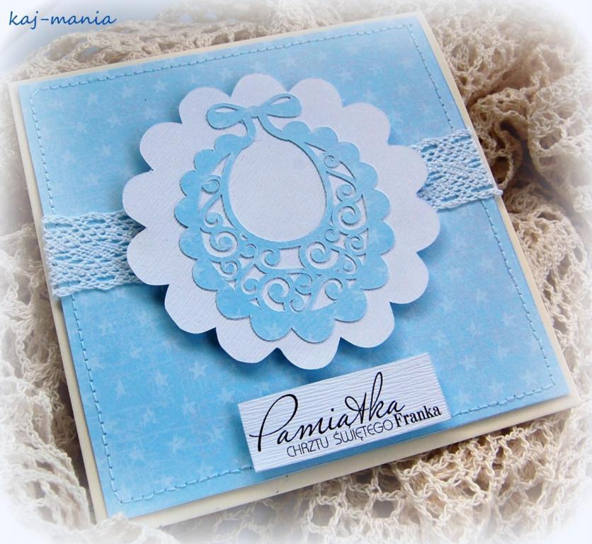 Karteczka na chrzciny – diy