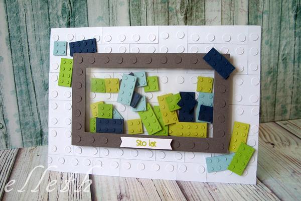 klocki lego kartka - diy