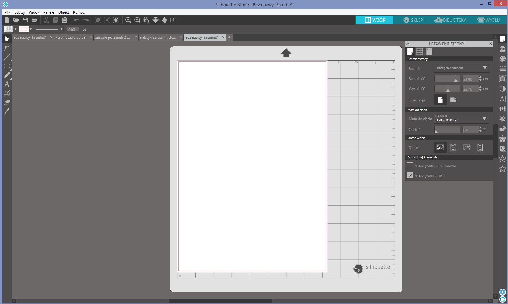 kolory Silhouette Studio - tutorial