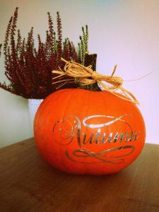 Dynia dekoracja diy jesień