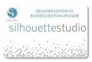 Silhouette Studio, upgrade Designer edition to Buissnes Edition