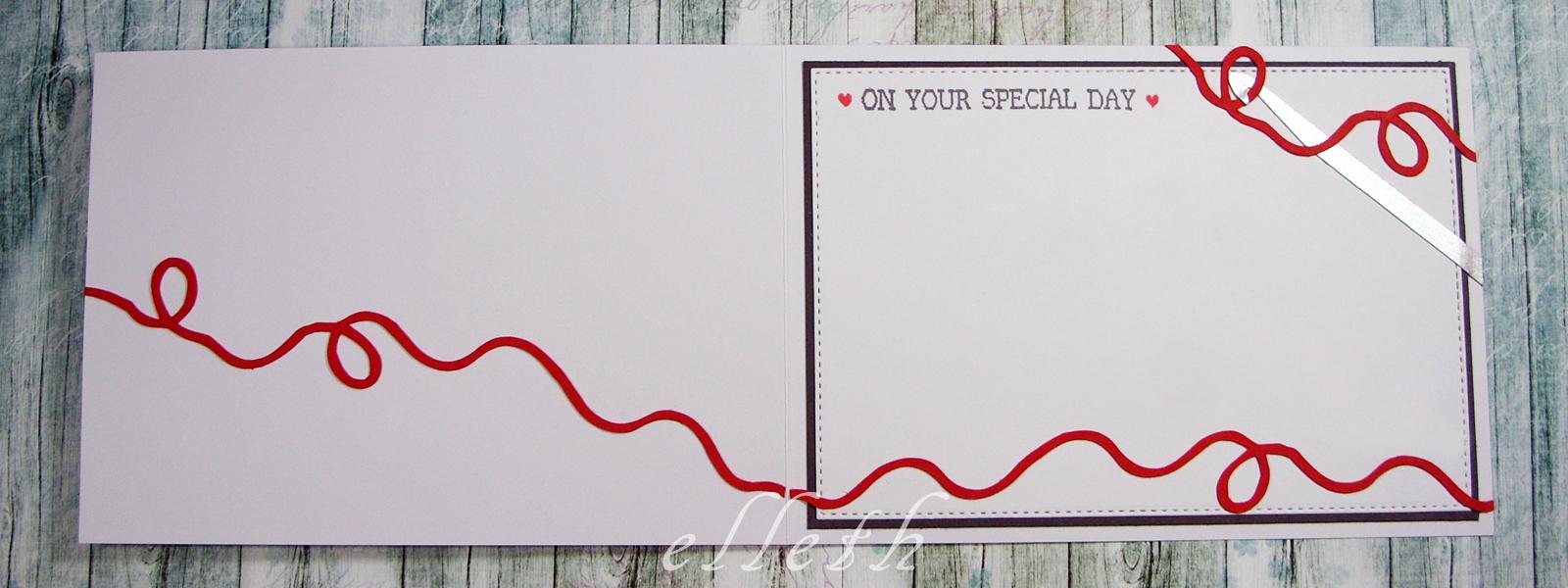 kartka z włóczką - tutorial