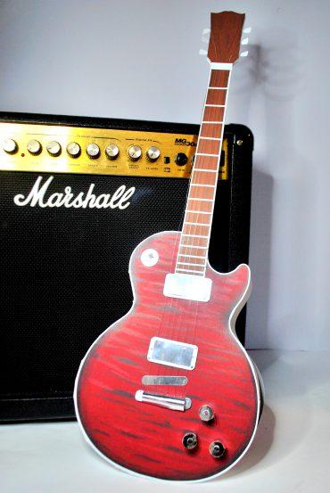Pudełko gitara - diy - silhouette