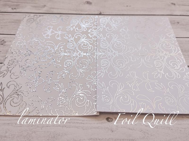 złocenie foil quill vs laminator