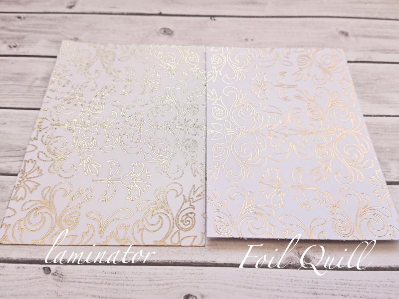 Foil quill vs laminator
