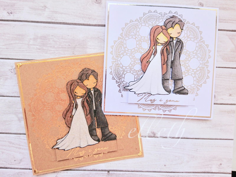 Kartki ślubne + Foil Quill
