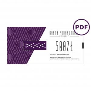 Karta podarunkowa 500 pdf
