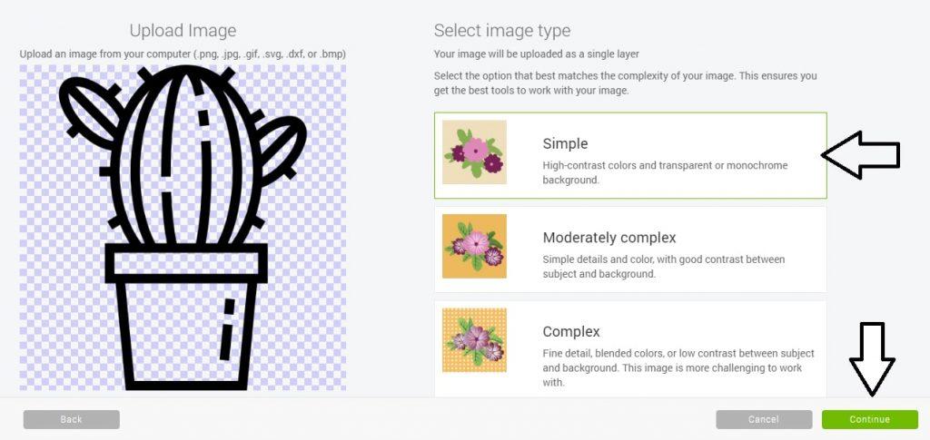 Import plików do Cricut Design Space - rodzaje obrazow