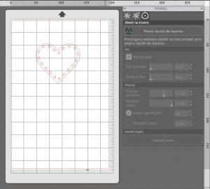 Powielanie kształtów na ścieżce w Silhouette Studio