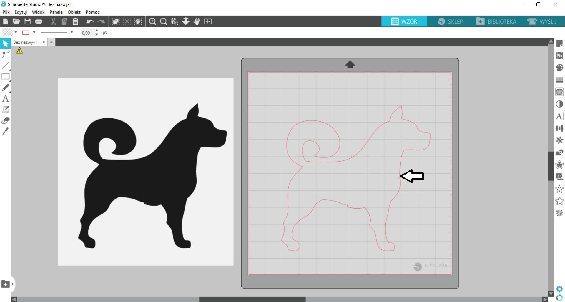 Jak stworzyć wzór do wycięcia ze znalezionej grafiki?