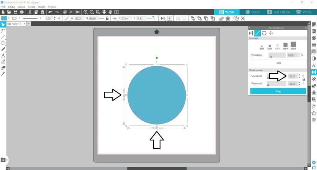 Ustawienie wymiarów obiektu