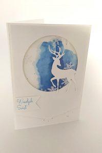 Kartka świąteczna z shakerem