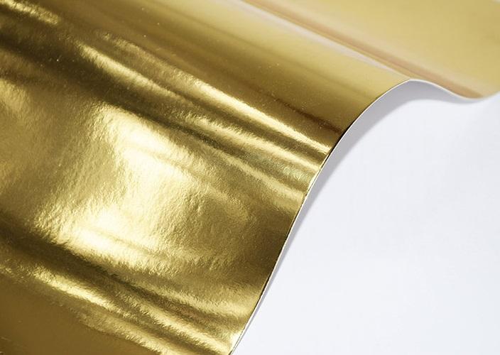 Papier lustrzany złoty