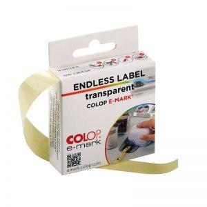 Etykiety przeźroczyste Colop E-mark